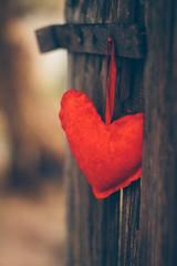 Still waiting (Inka56) Tags: smileonsaturday heartshaped heart fence bokeh red dof oldlens pentaxm11450mm pentaxart 7dwf macroorcloseup closeup