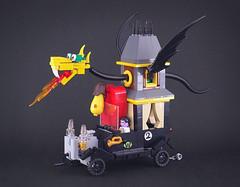 Wacky Races - Creepy Coupe (captainsmog) Tags: lego moc car hearse dragon cartoon fun wacky races race monster hanna barbera