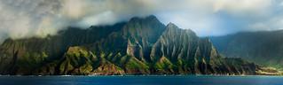 Na Pali Coast panorama || Kauai