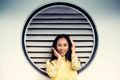 Dana! (Jon Siegel) Tags: nikon nikkor d810 80200mm 80200 nikon8020028 nikkor80200mmf28 woman girl beautiful cute smiling smile happy cheerful portrait portraiture singapore singaporean architecture afternoon