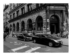 160513_1195_160513 104621_oly_S1_New York (A Is To B As B Is To C) Tags: aistobasbistoc usa newyorkstate newyork roadtrip travel olympus stylus1s monochrome bw blackwhite blackandwhite manhattan springst bowery germaniabankbuilding roylichtenstein renaissancerevival jaymaisel studio graffiti wall building street city cityscape retailspace people construction workers