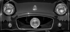 Not Smiling... Triumph TR3 Grill- [Explored] ©2018 Steven Karp (kartofish) Tags: triumph tr3 british fuji fujifilm xt2 chrome grill automobile sportscar frown
