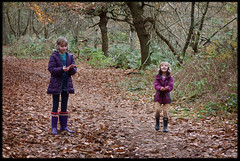 18th of November 2017 (Paul of Congleton) Tags: diary november 2017 grestyswaste delamere forest cheshire england uk woods autumn leaves rebecca becky katherine katie girls children childhood family digital sony rx100