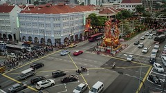 Timelapse of the main junction at Chinatown, Singapore during Chinese New Year 2018. (ronang) Tags: chinese new year dog chinatown singapore timelapse cars junction eu tong sen street traffic movement lanterns light up lightup lighting decorations