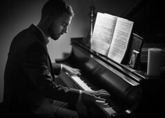At the piano (JWY80) Tags: piano steinway man blackandwhite d750 nikon 58mm music musician icon candle