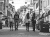Street capturing days of youth (m3dborg) Tags: stenportsgatan lidköping street people girl girls mn woman women monochrome house building architecture walking looking young old beautiful
