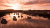 Scarborough Harbour Sunset (Derwisz) Tags: sea skyline sky scarborough yorkshire northyorkshire england englandseastcoast uk unitedkingdom sunset dusk canon canoneos40d reflections reflection water harbour boats