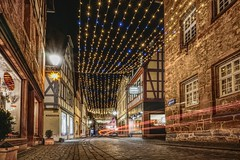 Christmas stars and light trails (Parchman Kid (Jerry)) Tags: büdingen christmas stars light trails germany holidays sparkles sparkle parchmankid sony a6000 landscape landscapes alt stadt winter town city night rheinlandpfalz