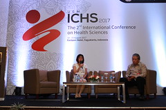 Nai-Ying Ko and Goeno Soebagyo during a QA session (International Conference on Health Sciences) Tags: international health sciences ichs 2017 yogyakarta indonesia eastparc universitas gadjah mada bpp ugm badan penerbit publikasi medicine medical research researcher speaker emerging reemerging infectious disease tropical neglected sexually transmitted drug resistance technology clinical presentation conference annual ichs2017