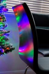 Festive reflection (fotosforfun2) Tags: colour reflection spectrum red blue green furniture christmas xmas festive light