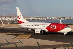 D-ATUZ_04 (GH@BHD) Tags: datuz boeing 737 738 b738 b737 737800 x3 tuifly riuhotels logojet specialcolours ace gcrr arrecifeairport arrecife lanzarote airliner aircraft aviation