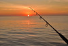 Fishing (Zara Calista) Tags: fishing pole sunset setting sun orange california ca 50mm nikon d750 sigma f14