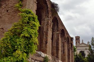 Basilica di Massenzio and Basilica di Santa Francesca Romana, Rome, Italy  -  (Selected by GETTY IMAGES)