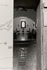 Harmony Chapel (lorinleecary) Tags: california californiacentralcoast harmony benches blackandwhite door entry fan hinges leaves light tilefloor weddingchapel window woodendoor