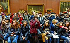 it's a da Vinci (albyn.davis) Tags: people crowd louvre museum art paris france colors vivid travel