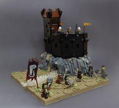 CCCXV - Battle of Hingham Keep (main) (Jan, The Creator) Tags: ccc xv lego castle orcs river