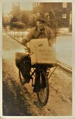 Renkum Waterweg opa Jan Bakker met bakfiets foto ca 1950 Collectie Fam P Bakker Echos 2017 2 (Historisch Genootschap Redichem) Tags: renkum waterweg opa jan bakker met bakfiets foto ca 1950 collectie fam p echos 2017 2