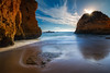Submarine Beach (Adam West Photography) Tags: adamwest algarve beach cliffs clouds composition dusk longexposure portugal praia private rocks sand sea stacks stone submarino sumarine sunrise sunset sunstar uboat warm inaccessible secluded secret
