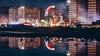 Luna Park (FButzi) Tags: genova genoa liguria italia italy piazzale kennedy luna park reflection smoke lights buildings water