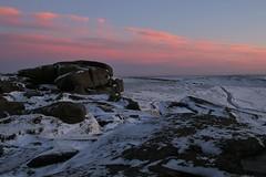 In The Winter Pink (Derbyshire Harrier) Tags: 2017 winter peakdistrict peakpark derbyshire afterglow pink snow christmas stanageedge darkpeak gritstone december evening ice frozen road track