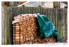 The Woodpile (Timothy Valentine) Tags: 1217 intheneighborhood firewood friday 2017 snow fence eastbridgewater massachusetts unitedstates us