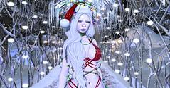 Santa's Baby (Nova Bean) Tags: secondlife second life winter christmas snow cold lingerie pale lights holidays festive catwa foxy theskinnery toast mon cheri