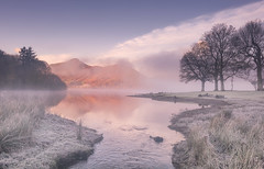 River Runs Cold (Captain Nikon) Tags: catbells lakedistrict cumbria derwentwater thelakes landscapephotography mountains misty mist frost frosty autumn england greatbritain explorenumber1 explore explored keswick uk