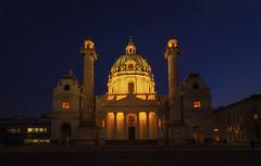 Karlskirche (try...error) Tags: church kirche maria jesus christus wien vienne vienna blue hour sky urban urbanarte