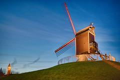 Sint Janshuismolen (kewl) Tags: belgien belgique belgië bruges brugge bruggecentrum flanders kruisvest vlaanderen westvlaanderen mill twilight belgiëbelgiquebelgien