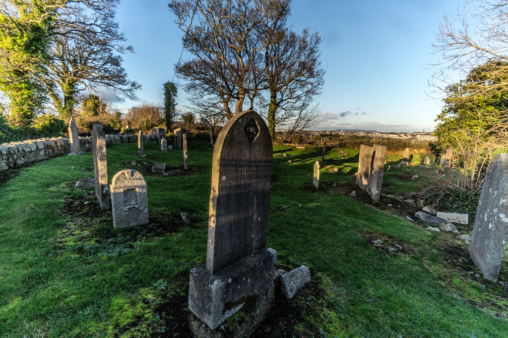 ANCIENT CHURCH AND GRAVEYARD AT TULLY [LAUGHANSTOWN LANE NEAR THE LUAS TRAM STOP]-134605