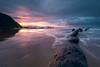 Rain Light (Caramad) Tags: mar landscape sunset water olas bizkaia rocks agua longexposure beach nubes sea seascape lluvia barrika puestadesol marcantábrico