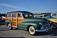 HCCA 62nd Holiday Motor Excursion (USautos98) Tags: 1948 oldsmobile deluxe 66 woodie woody wagon