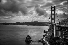 P U E N T E  (remake) (.KiLTRo.) Tags: kiltro goldengatebridge sanfrancisco california usa bridge clouds nubes cielo sky mar sea agua water roca rock elitegalleryaoi bestcapturesaoi aoi