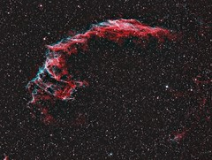 Eastern Veil NGC 6992 in Narrowband (UKJay1971) Tags: astrophotography narrowband ngc6992 skywatcher astrometrydotnet:id=nova2384112 astrometrydotnet:status=solved