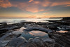 Low tide rock pools (Rod Burgess) Tags: southdurras sunrise australia nsw canon1635f4l canoneos5dmarkiv rocks pools clouds nisifilters