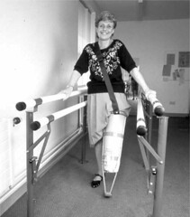 Pylon Leg Lady (jackcast2015) Tags: handicapped disabled disabledwoman cripledwoman onelegwoman oneleggedwoman monopede amputee legamputee crippledwoman