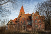 Rudolf Griebl's manor house (Michał Banach) Tags: 1897 greaterpoland napachanie poland polska qeenannerevival rudolfgriebl wielkopolska abandoned architecture blue building bush bushes chateau clouds house manorhouse mansion old outdoor outside residence sky sunset tree trees canon5dmarkiv