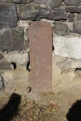 Old Post Road Mile Marker (Restless Eye) Tags: newyorkcity newyork usa oldpostroad inwood bronx mile marker stone wall ishampark track postal royalmail