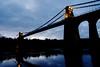 6272 Pont Grog y Borth (Andy - Busyyyyyyyyy) Tags: bbb bluehour bridge menaibridge menaistraits menaisuspensionbridge mmm pontgrogyborth ppp seawater sss water www
