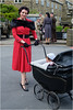 3_Yorkshire-0703 (AndyG01) Tags: 1940s haworth yorkshire revival wartime red coat baby pram stockings fur collar
