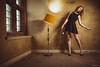 Unplugged (Roj) Tags: lamp floorboards ginger canon5dmkiv legs window flash gemmahuh lbd pose canonef2470mmf28liiusm originalphotographers gem sallehsparrowworkshop urbex sourcerojsmithtumblrcom photographersontumblr dress