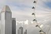 City Pastel (DarrenCowley) Tags: city singapore bigwheel singaporeflyer sky architecture clouds cityscape pastel blue white