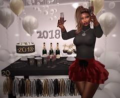 Take a Glass of Wine & The New Year Will Be Fine! (Sunny Love Senju <3) Tags: slackgirls designercircle cazimi cheeky pixicat maxigossamer yumyum barberyumyum chicchica dust cosmopolitan yourdreams treschic hive uber newyear newyears 2018 nye new years eve