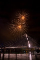 Fireworks 2017 I (Mantere) Tags: laukonsilta ratina tammerkoski tampere firework finland long exposure celebration night