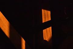 Sunset Inside the Cabin (dismukesj) Tags: alabama fortpayne beason'sgap cabin trusses sunset