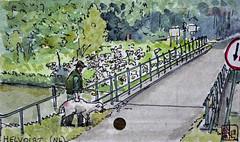 Helvoirt, Noord-Brabant, Pays-Bas (chando*) Tags: aquarelle watercolor croquis sketch