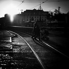 Strolling Through Gothenburg (Mabry Campbell) Tags: europe gothenburg göteborg scandinavia sweden blackandwhite fineartphotography image people photo photograph photography squarecrop street sverige walking f14 mabrycampbell december 2012 december282012 201212281626 50mm ¹⁄₈₀₀₀sec 100 ef50mmf14usm fav10 fav20 fav30 fav40