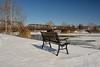 Plenty Of Seats Available (thoeflich) Tags: snowylandscape harmarvillage harmar harmarfootbridge borailroadbridge snowfall snowscape marietta muskingumriver ohio ohioriver