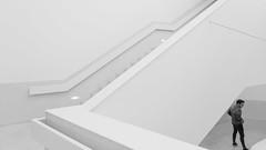 visitor (ignacy50.pl) Tags: people indoor minimal minimalism monochrome blackandwhite man lisbon building architecture reportage