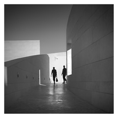 Light and Shadow (Vesa Pihanurmi) Tags: architecture streetphotography shadow light champalimaudcentre lisbon lisboa portugal people silhouette figures characters